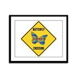 Butterfly Crossing Sign Framed Panel Print