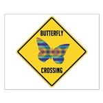 Butterfly Crossing Sign Small Poster