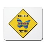 Butterfly Crossing Sign Mousepad