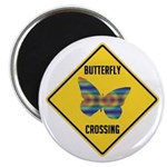 Butterfly Crossing Sign Magnet