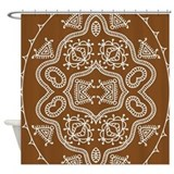 Ethnic Brown Shower Curtain