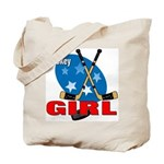 Hockey Girl Tote Bag