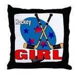 Hockey Girl Throw Pillow