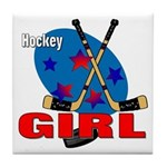 Hockey Girl Tile Coaster