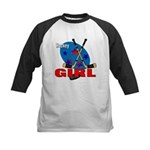 Hockey Girl Kids Baseball Jersey