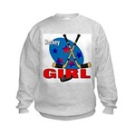 Hockey Girl Kids Sweatshirt