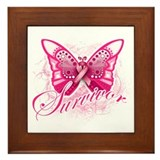 Survivor - Breast Cancer Framed Tile