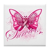 Survivor - Breast Cancer Tile Coaster