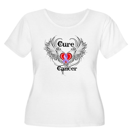 Cure Cancer Women's Plus Size Scoop Neck T-Shirt
