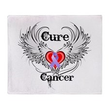 Cure Cancer Throw Blanket