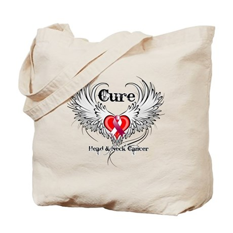 Cure Head Neck Cancer Tote Bag