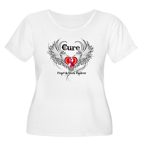 Cure Head Neck Cancer Women's Plus Size Scoop Neck