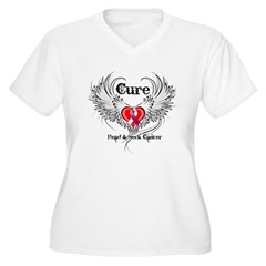 Cure Head Neck Cancer Women's Plus Size V-Neck T-S