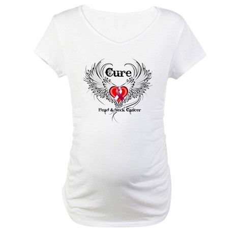 Cure Head Neck Cancer Maternity T-Shirt