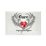 Cure Head Neck Cancer Rectangle Magnet (100 pack)