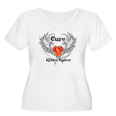 Cure Kidney Cancer Women's Plus Size Scoop Neck T-