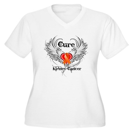 Cure Kidney Cancer Women's Plus Size V-Neck T-Shir