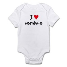 I LOVE Wombats Infant Bodysuit