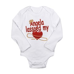 Angela Lassoed My Heart Long Sleeve Infant Bodysui