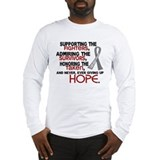 © Supporting Admiring 3.2 Brain Cancer Shirts Long