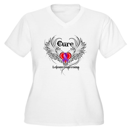 Cure Leiomyosarcoma Women's Plus Size V-Neck T-Shi