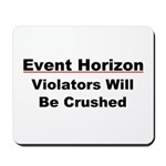 Event Horizon: Crushed Mousepad