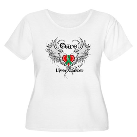 Cure Liver Cancer Women's Plus Size Scoop Neck T-S