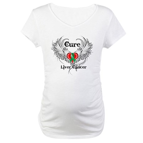 Cure Liver Cancer Maternity T-Shirt