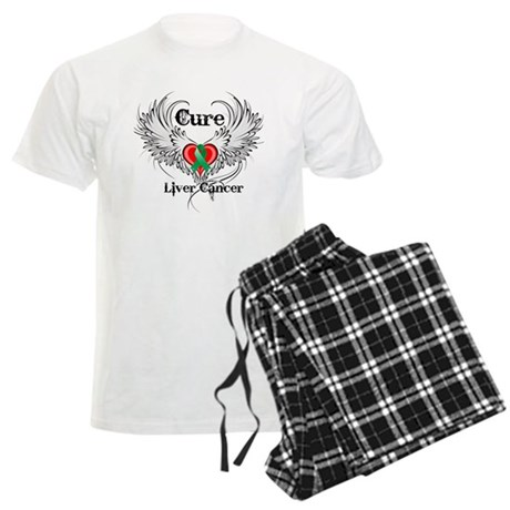 Cure Liver Cancer Men's Light Pajamas