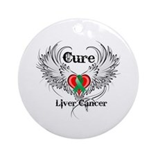 Cure Liver Cancer Ornament (Round)