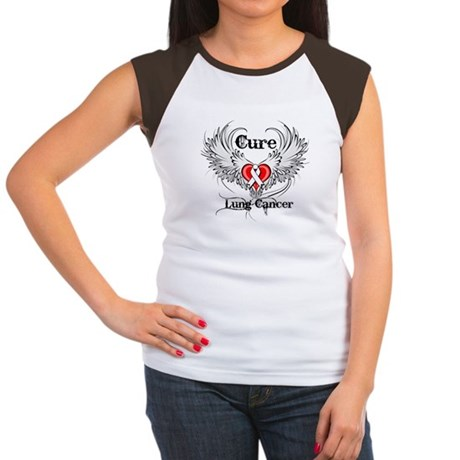 Cure Lung Cancer Women's Cap Sleeve T-Shirt