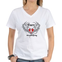 Cure Mesothelioma Women's V-Neck T-Shirt