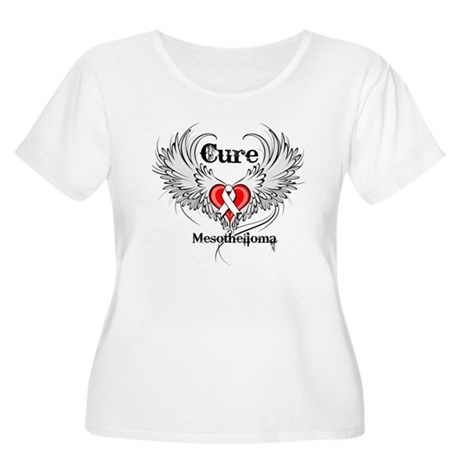 Cure Mesothelioma Women's Plus Size Scoop Neck T-S
