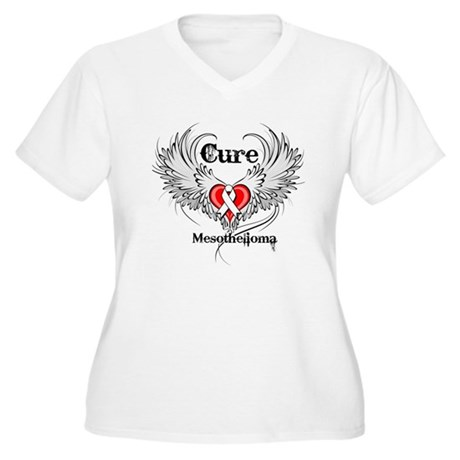 Cure Mesothelioma Women's Plus Size V-Neck T-Shirt