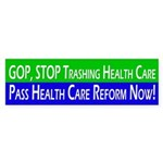 GOP Trashes Health Care Bumper Sticker
