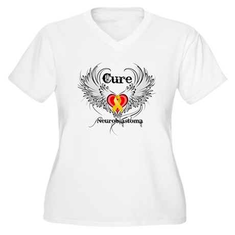 Cure Neuroblastoma Women's Plus Size V-Neck T-Shir