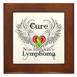 Cure Non-Hodgkins Lymphoma Framed Tile