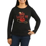Bella Lassoed My Heart Women's Long Sleeve Dark T-