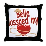 Bella Lassoed My Heart Throw Pillow