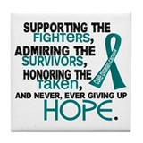 © Supporting Admiring 3.2 Ovarian Cancer Shirts Ti