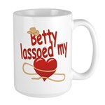 Betty Lassoed My Heart Large Mug