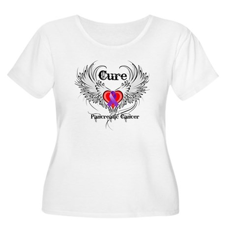 Cure Pancreatic Cancer Women's Plus Size Scoop Nec
