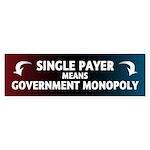 Government Monopoly Sticker (Bumper)
