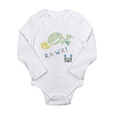 Cute Dragon boy Long Sleeve Infant Bodysuit