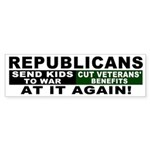Republicans Cut Veterans Bumper Sticker