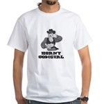 Horny Cowgirl White T-Shirt