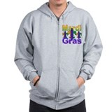 Mardi Gras Fleur de lis Zip Hoody