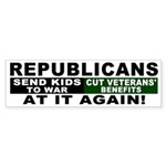 GOP Sends Kids to War Bumper Sticker