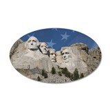 Patriotic Mt. Rushmore 22x14 Oval Wall Peel