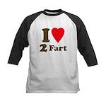 I love farting Kids Baseball Jersey